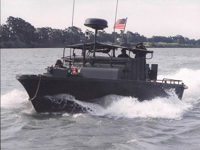 This is a PBR boat, which is the type of boat Dave served on in Vietnam