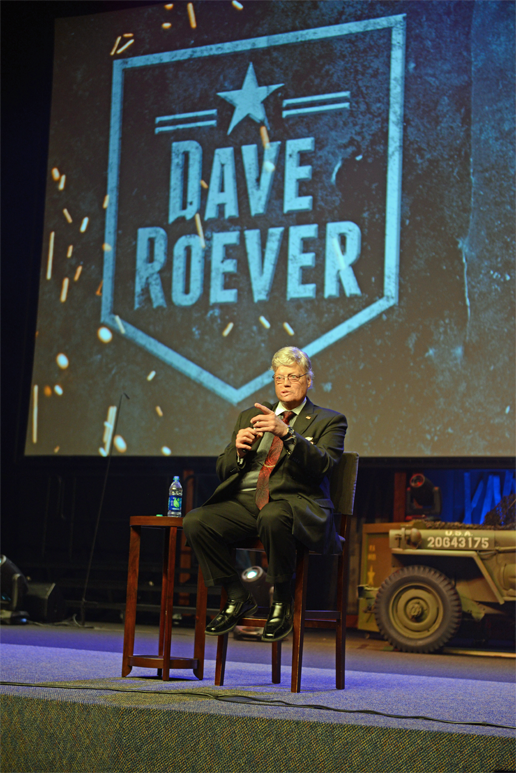 Dave sharing his personal story at a church in Florida.