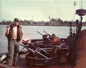 Dave on boat in Vietnam