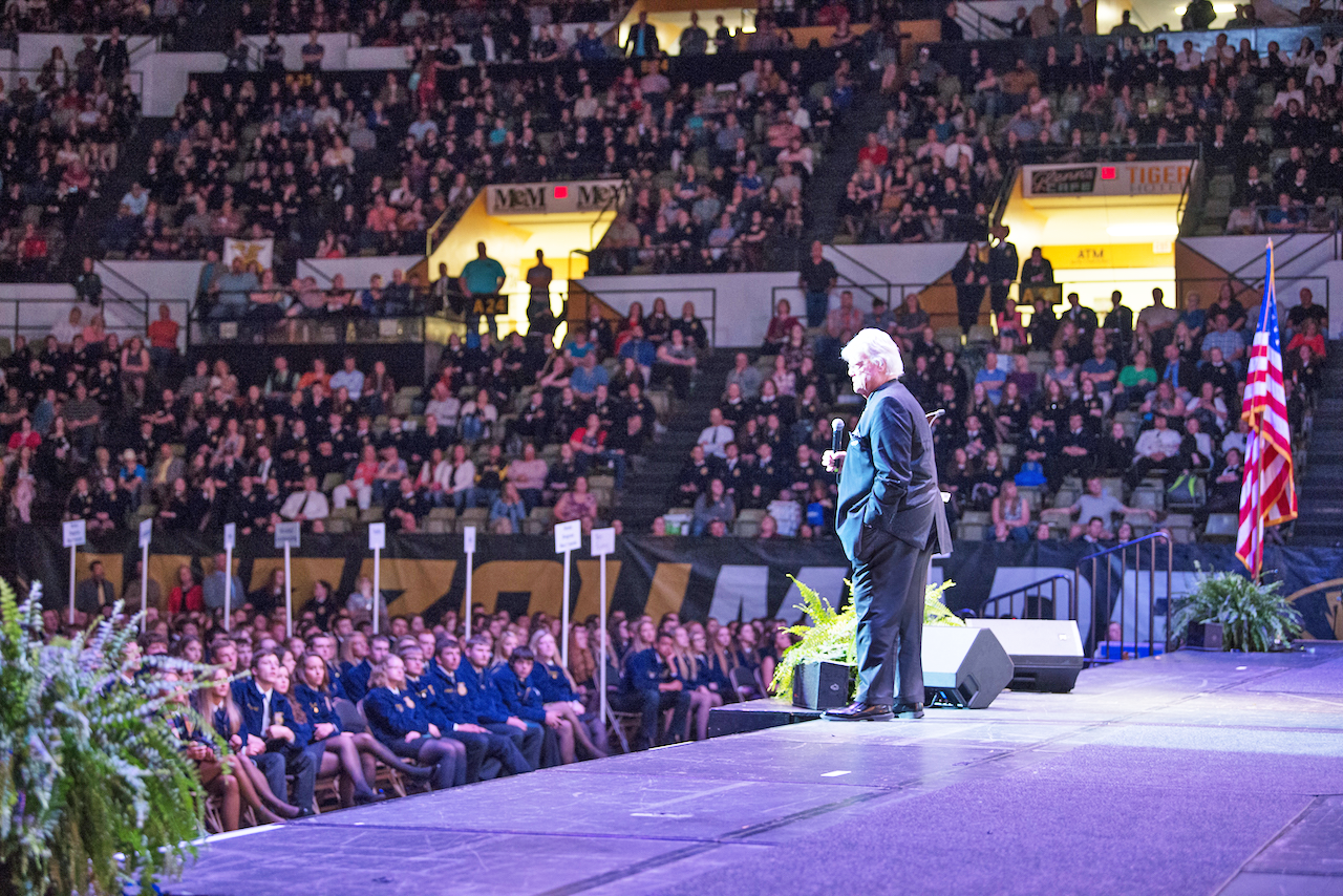 Dave speaking at the National FFA Convention.