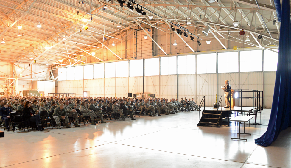 Dave speaking for the Air National Guard in Minneapolis, MN.