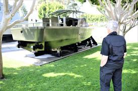 Touring the Vietnam Unit Memorial Monument on the Naval Amphibious Base, Coronado, CA.