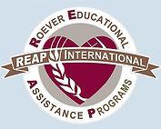 REAP International - Logo Blue Backgroun