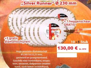 Promotie diamantschijven 'Silver Runner'