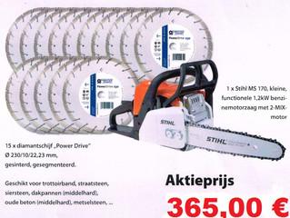 Promotie 15x Power Drive & 1x Stihl MS 170
