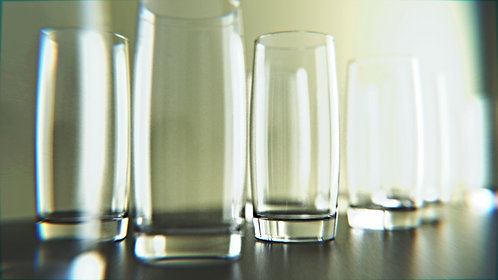 24x Water glasses