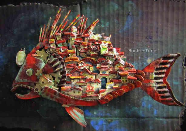 酔いどれ舟 Drinking Town in the structure of a Atlantic Footballfish.