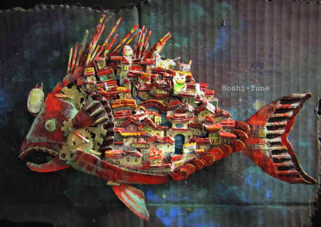酔いどれ舟 Drinking Town in the structure of a Atlantic Footballfish.