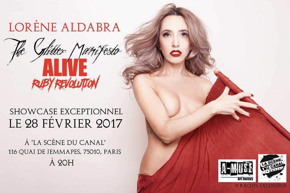 """Prochaine date parisienne du """"Glitter Manifesto Alive"""" le 28 Février 2017, à la Scène Du Canal, 75010 Paris. 20H. Entrée libre."""