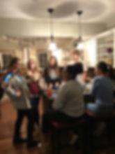Students enjoy food