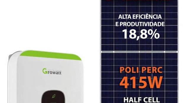 Gerador de Energia Fotovoltaico com potência de 2,49 kWp