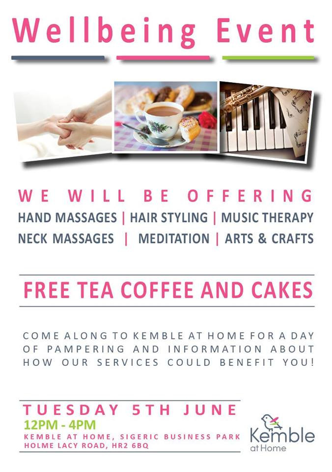 well-being event home care live-in care Hereford