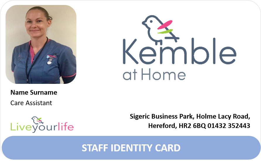 Kemble at Home ID Badge