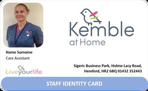 Kemble at Home ID Badge