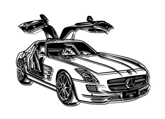 Mercedes SLS Gull Wing