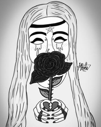 Blood Rose (Desire) B&W