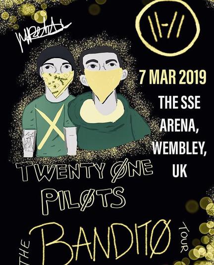 Twenty One Pilots gig poster