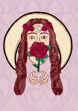 Blood Rose (Desire) Art Nouveau