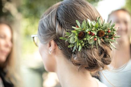 Bröllopsfrisyr bruduppsättning