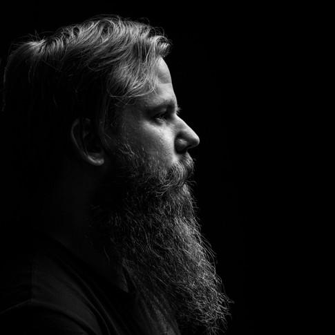 fine art man med skägg fotografering