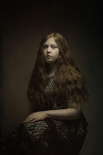 fine art porträtt självporträtt gammal vacker