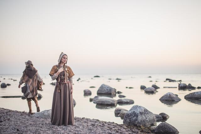 Viking fine art porträtt tavla
