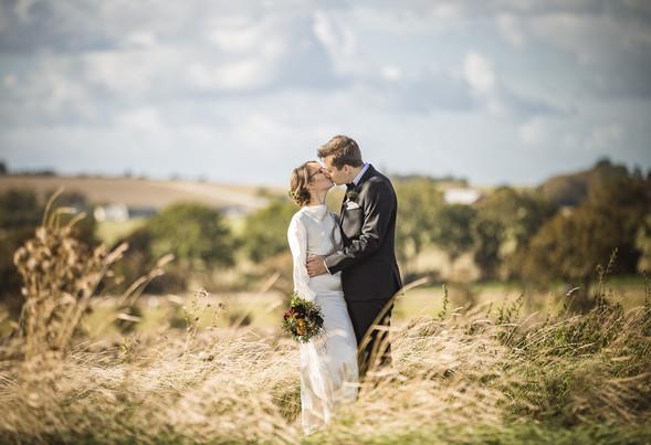 Bröllop brudpar åker porträtt Landskrona