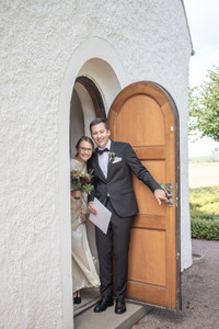 Brudpar bröllopsporträtt