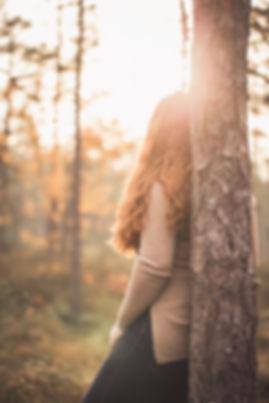 poträtt höst anonym skog inspiration