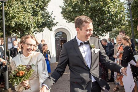 Bröllop brudpar riskastning