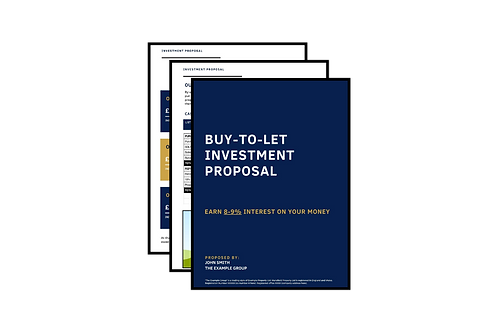 Investor Proposal Document (Example Document)