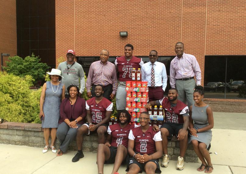 Annual supplies donation to the NCCU Foo