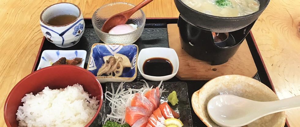 宍粟サーモンかす汁御膳