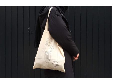 Society Cafe Show + Tote Bag design