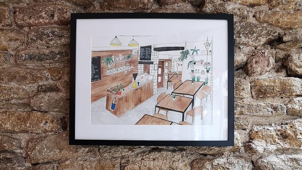 *Personalised* Shop/Home interior illustration