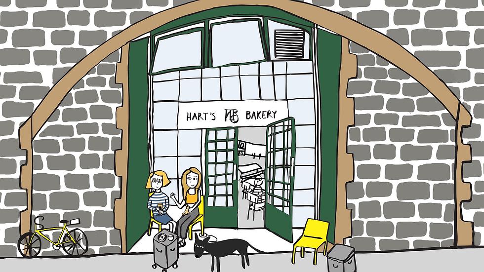 Harts Bakery Print (A4)