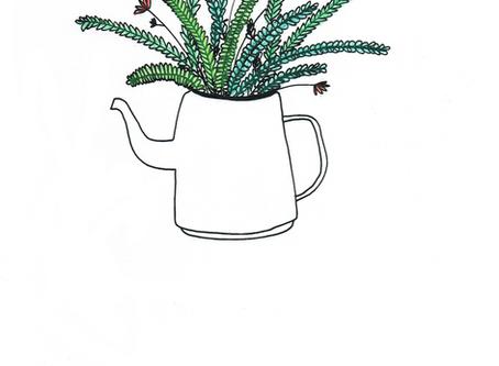 Botanical Teapot Print