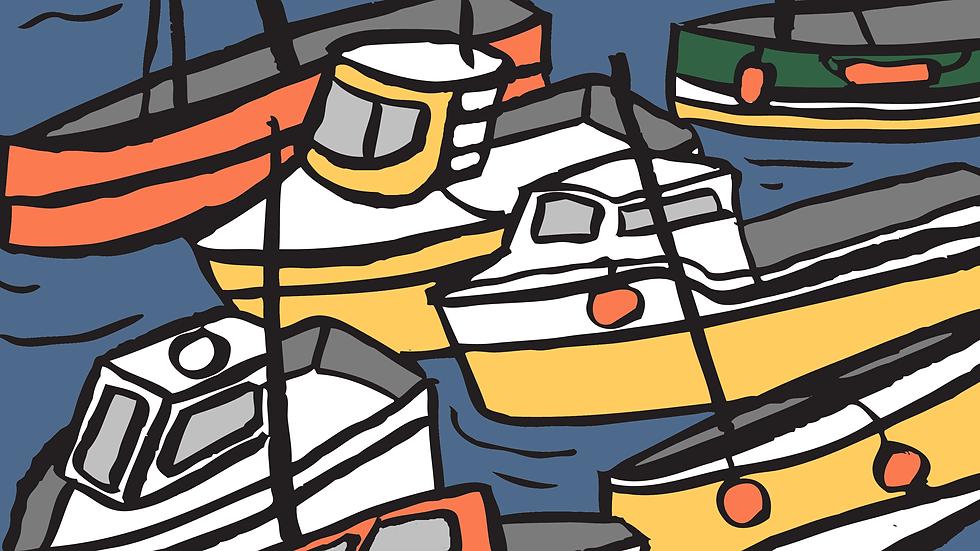 Boats Print (A3)