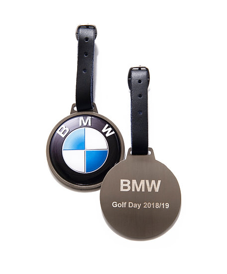 Round Metal Bag Tag