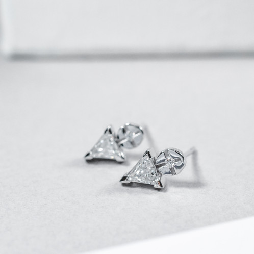 ip trillion cubic earrings set sterling zirconia jacket silver