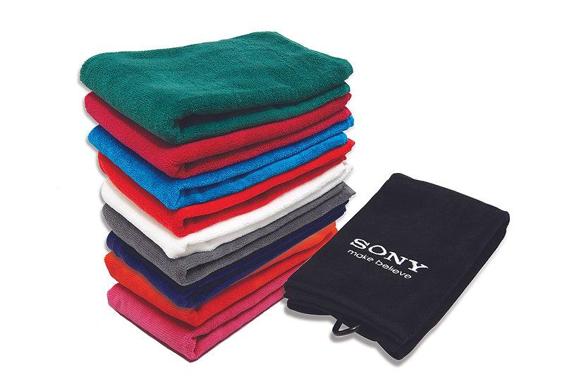Luxury Velour Tri Fold Towel