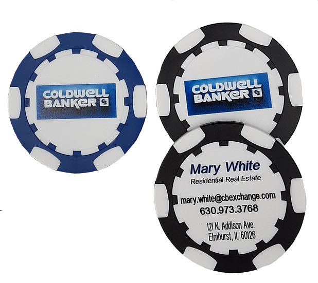 Business Card Poker Chip