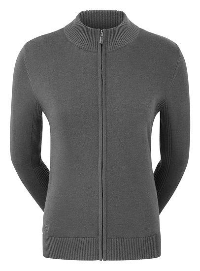 FJ (Footjoy) Women's Full Zip Lined Wool Blend Pullover