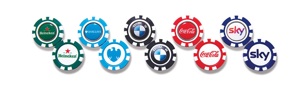 Plastic Pokerchip with Removable Ball Marker