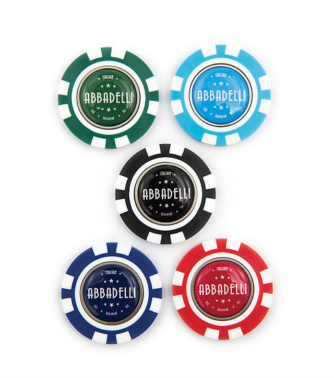 Poker Chip with Removable Marker
