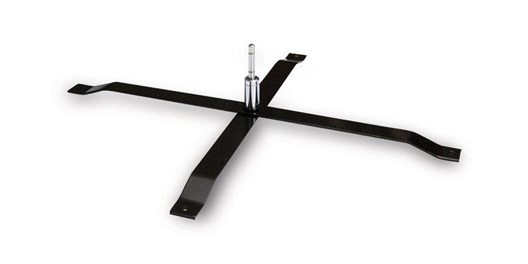 Universal metal cross base with rotator