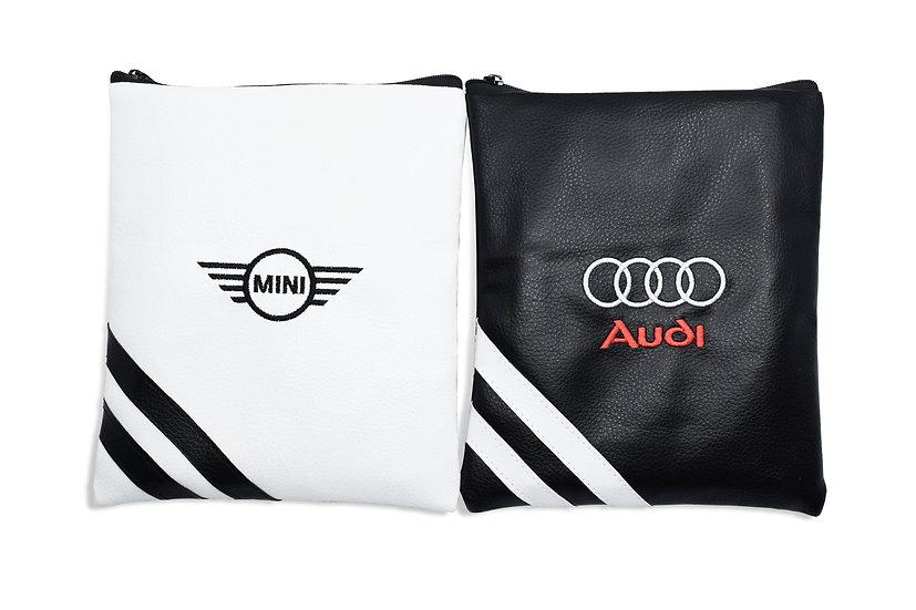 Premium Leatherette Zipped Bags - Empty