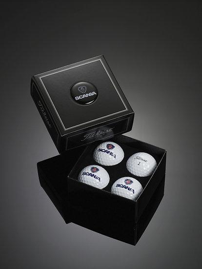 Titleist Dome Label 4-Ball Box