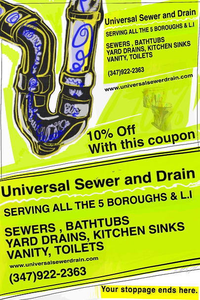 Universal Sewer and Drain Coupon
