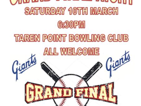 Grand final night - 10 March